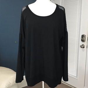 MARIKA Sheer Shoulder Pullover Activewear Top XL